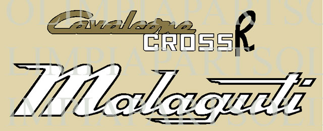 @ Malaguti cavalcone cross R 50 5 marce adesivi  @
