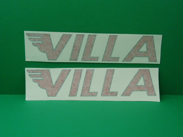 Villa red stickers