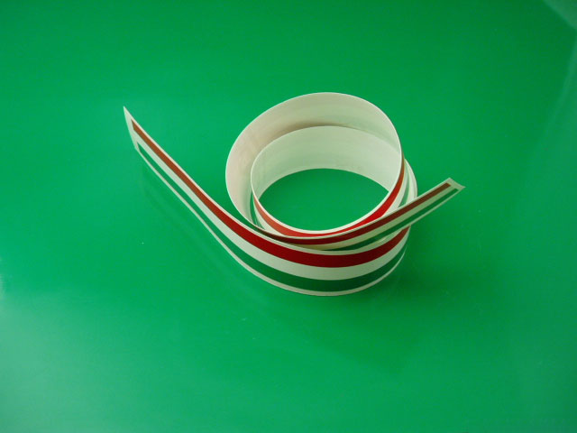 Filetto tricolore Italia 3,3 x 1mt @